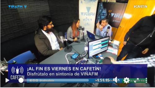 Entrevista en programa Radio Cafetín Radio Viña FM
