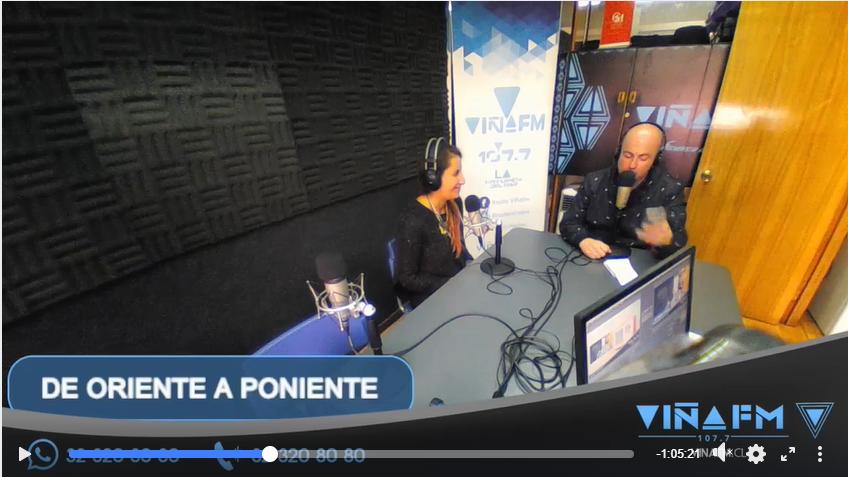 Entrevista en programa De Oriente a Poniente Radio Viña FM